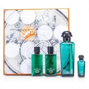 D'Orange Verte Coffret: Eau De Cologne Spray 100ml/3.3oz + Miniature 7.5ml/0.25oz + Bady Lotion 40ml/1.35oz + All Over Shampoo 40ml/1.35oz 4pcs D'Orange Verte Комплект: Одеколон Спрей 100мл + Миниатțра 7.5мл + Лосион за Тяло 40мл + Универсален Шампоан 40м