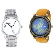 Oura Analog Multi-Color Casual Wear Men'S Watch- Pack Of 2-Co-826