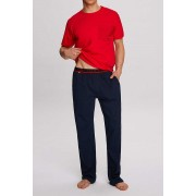 Atlantic Hide Pyjama Set Short Sleeved T Shirt & Pants Red NMP-312