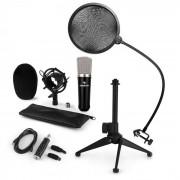 Auna CM003 Juego de micrófono de condensador Convertidor USB Soporte Protector antipop (60001991-V2KO)
