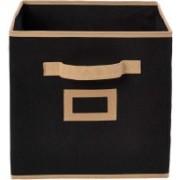 Billion Designer Non Woven Small Foldable Storage Organiser Cubes/Boxes (Black) BILION001(Black)