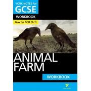Animal Farm: York Notes for GCSE (9-1) Workbook, Paperback/David Grant
