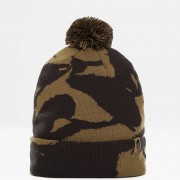 the north face ski tuke V bonnet burnt olive camo