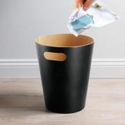 Umbra Abfalleimer / Papierkorb Woodrow Holz, Schwarz Natur