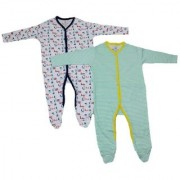 krivi Kids Set of 2 Full Sleeve Cotton Multi color Jumpsuit Body Suit For Baby.
