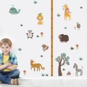 Álllatkert, magasságmérő falmatrica gyerekeknek