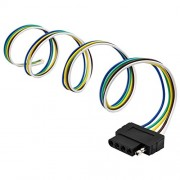 ELECTROPRIME 5Pin Flat Plug Wire Wiring Harness Connection Kit for Trailer Boat Car RV US