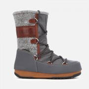 Moon Boot Women's Vienna Felt Waterproof Boots - Grey/Brown - EU 41/UK 7.5 - Grey/Brown