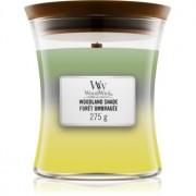 Woodwick Trilogy Woodland Shade lumânare parfumată cu fitil din lemn 275 g