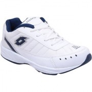 Look Hook Jaisco Men White Lace-up Running Shoes