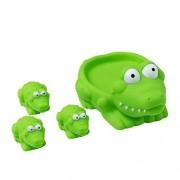 Kidelle(Tm) Bath Toys, Squeaky Mamma Alligator 3 Baby Alligators For Kids Water Fun