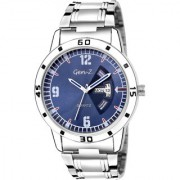 Gen-Z GENZ-SN-SDD-0053 Blue dial Silver strap day and date stainless steel Gift Watch for Men