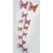 """Dekorációs falmatrica pillangók """"Love"""""""