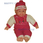Real Life like Laughing Baby Dolls Kids Girls Boy Soft Toys 15Inches EE5336RPINK