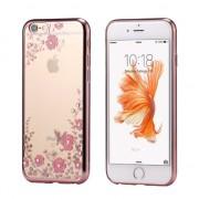 Husa cu Flori Roz Aurie - iPhone 7 / 8