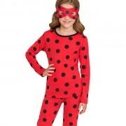 Pijama Feminino Infantil Veggi Manga Longa Personagem Ladybug Kids
