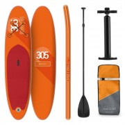 KLARFIT Spreestar tabla para surf de pala hinchable set de tabla para SUP 305 x 10 x 77 Naranja (WTR1-Spreestar Org)