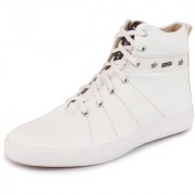 Fausto Men's White High Ankle Boot Casual Sneakers