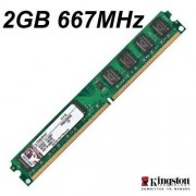 KVR667D2N5/2G Kingston geheugen (667mhz) DDR2-RAM Kit, groen - groen
