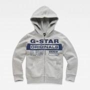 G-star RAW Garçons Hooded Cardigan Gris