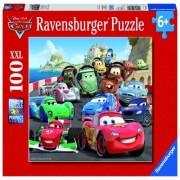 Puzzle Cars, cursa de masini, 100 piese Ravensburger