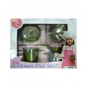 Set Cocina Acero imitación - jugueterias