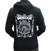 Orange Hoody Logo Black M