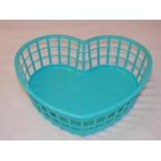 Szív alakú műanyagkosár kicsi (vegyes színekben) (220)