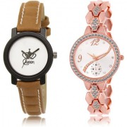 The Shopoholic White Silver Combo Fashionable Fancy Collection White And Silver Dial Analog Watch For Girls Girl Watches