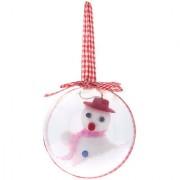 Christmas Decoration- Snowman Globe Hanging