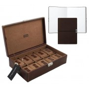 Set Cutie 10 ceasuri Bond Intense Brown by Friedrich si Note Pad Burgundy Hugo Boss personalizabil