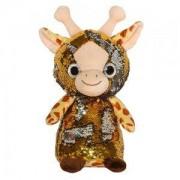 Детска плюшена играчка - Жирафче с пайети, 14см., 391083