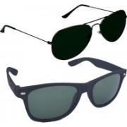 Fash-On India Aviator Sunglasses(Grey, Black)