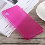 0.3mm Ultra-thin Frosted PP Case for iPhone XS Max (Rose Red)