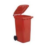 Socepi Bidone raccolta differenziata rifiuti in PEHD da 240 litri colore rosso