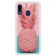 Unique Be Unique Funda Gel Piña Rosa para Samsung Galaxy A20E