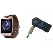 Mirza DZ09 Smart Watch and Car Bluetooth for LG OPTIMUS L3 DUAL(DZ09 Smart Watch With 4G Sim Card Memory Card| Car Bluetooth)