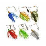 Cocodeal 6pcs Duro De La Pesca Del Hilandero Del Señuelo Spinnerbait Pike Bass-Multicolor