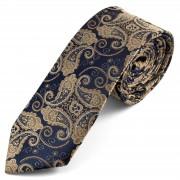 Tailor Toki Cravate bleue à motif cachemire