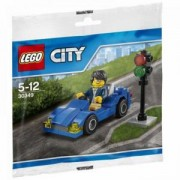 ЛЕГО СИТИ Синя кола с мини фигурка и 47 части в оригинална опаковка, LEGO City Blue Car, 30349