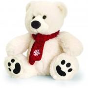 Ursulet polar cu fular Keel Toys, 20 cm, 3 ani+