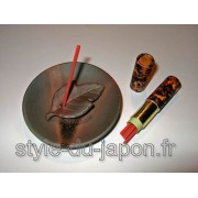 Set d'encens avec le support en céramique Echizen-yaki