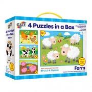 Galt Toys Inc Farm in a Box Puzzle, 4-Piece