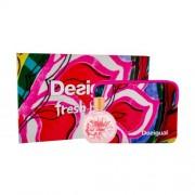 Desigual Fresh Bloom подаръчен комплект EDT 100 ml + козметична чантичка за жени