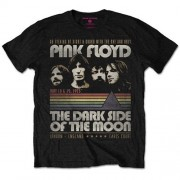 Pink Floyd: The Dark Side of the Moon Vintage Stripes (tricou)