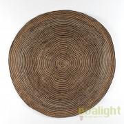Covor rotund din iuta, realizat manual, DOON 200cm, bej/ maro 80921/00 TN