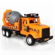 Kids Friction Powered Cement Concrete Mixer Truck Toy-Engineering Car ConcreteMixingVehicle Toy