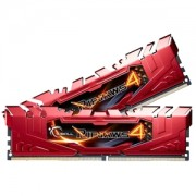 Memorie G.Skill Ripjaws 4 Red 8GB (2x4GB) DDR4 2666MHz CL15 1.2V Intel X99 Ready XMP 2.0 Dual Channel Kit, F4-2666C15D-8GRR