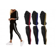 Want Clothing LTd £11.99 for a ladies black side stripe two-piece tracksuit set - choose your colour and UK size