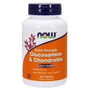 Now Foods Glukozamina i Chondroityna Extra Strength 60 tabletek